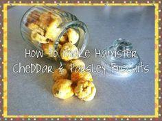DIY Hamster Treat: Cheddar & Parsley Biscuit