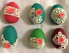 #Marzipan_easter_egg decorated with #sugarlace and a #marzipan_rose