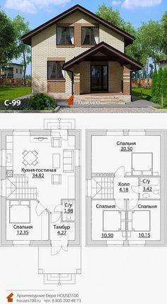 A Frame House Plans, Dream House Plans, House Floor Plans, House Design Pictures, Small House Design, Modern House Design, Layouts Casa, House Layouts, Plano Hotel