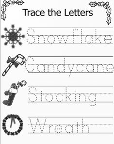 find this pin and more on kindergarten things trace the letters christmas worksheets - Holiday Worksheets For Kindergarten