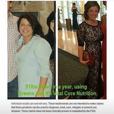 Greens and core vitamins!!! Wow  look at those results.. It works