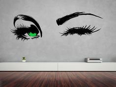 Beautiful Eyes Winking Removable Wall Art Decor Decal Vinyl Sticker Home Decor