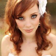 Beautiful makeup for green eyes / ginger / redhead / natural /