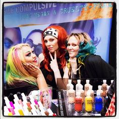At The Makeup Show NY 2014 with The Queen of Blending (Lauren) and OCCmakeup's lead artist Courtney! Colourful image: Reed Davis
