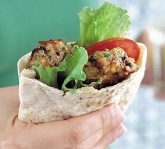 Spicy Falafel--The best I ever had was on the streets of Paris! Every Falafel since is compared to that. Bbc Good Food Recipes, Veggie Recipes, Diet Recipes, Vegetarian Recipes, Cooking Recipes, Yummy Food, Healthy Recipes, Veggie Food, Cooking Ideas