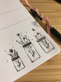 30 Ways to Draw Flowers // Things to draw, floral drawing, flower drawings, botanical drawings, easy things to draw drawing doodles 30 Ways to Draw Flowers Bullet Journal Ideas Pages, Bullet Journal Inspo, Best Bullet Journal Pens, January Bullet Journal, Bullet Journal Minimalist, Bullet Journal Books, Bullet Journal Aesthetic, Simple Line Drawings, Easy Drawings