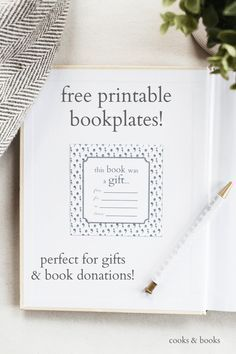 Printable bookplates for donated books | Book Fair Planning
