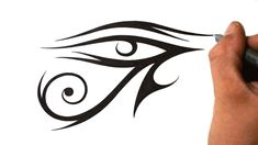 c77069030 Download Free How to Draw Eye of Ra Tribal Tattoo Design Style YouTube to  use and