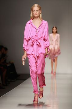 Pajamas or Jacket? Love the color from Bluemarine Spring 2013.