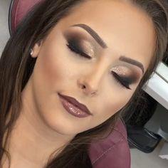 Makeup time and eyebrow Pretty Makeup, Love Makeup, Makeup Inspo, Makeup Art, Makeup Inspiration, Beauty Makeup, Prom Makeup, Wedding Hair And Makeup, Bridal Makeup