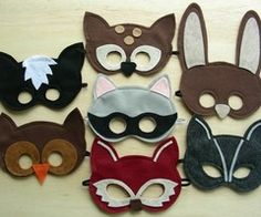 felt masks - but caty, wouldn't it be great to make big cookies like this for a kid's party???