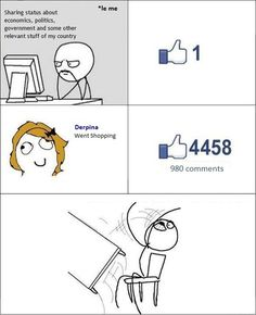 Facebook is For Derpina Not Derp... Girls Not Boys. - Posted in Funny, Troll comics and LOL Images - Mix Pics