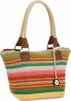 The Sak Cambria Crochet Medium Satchel Playa Stripe Via Ebags Backpack
