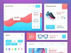 Free PSD: Ecommerce UI Kit by NestStrix Design
