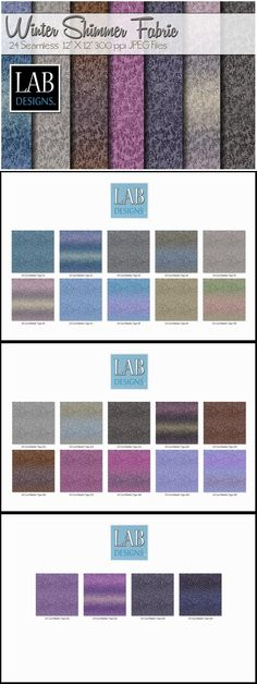 24 Winter Shimmer Fabric Textures