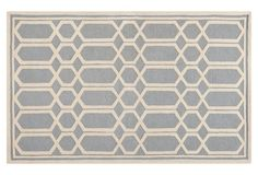 Avery Rug, Silver/Ivory