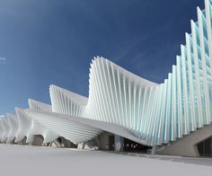 .Stazione Mediopadana, high speed railway line by Calatrava in Reggio Emilia, Italy