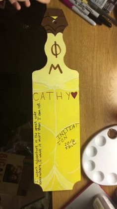 Belle Initiation Phi Mu paddle