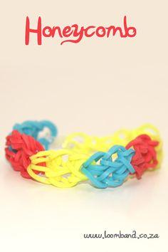 honeycomb bracelet loom band