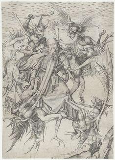 De verzoeking van de Heilige Antonius, Martin Schongauer, 1470 - 1490