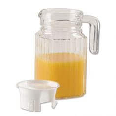 Glass Pitcher with Lid