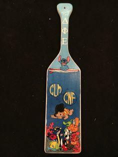 Lilo and Stitch themed sorority paddle. Delta Phi Epsilon
