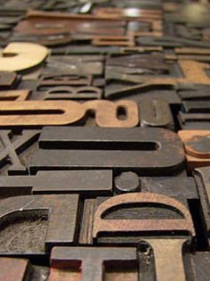 Wooden letterpress letters have such a warm patina and ad whimsy and history to a space.
