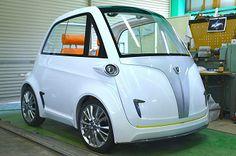 ディーアート、超小型EVに参入-発電機搭載で航続距離延長:日刊工業新聞 Bmw Isetta, Miniature Cars, Fiat 600, Minis, Bmw Classic, Bubble, Cute Cars, Electric Car, Small Cars