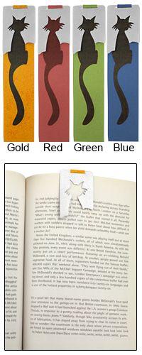 Cute Cat Aluminum Fold-Over Bookmark at The Animal Rescue Site