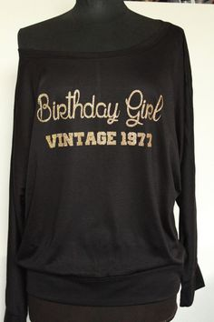 Birthday Girl Vintage1977 shirt-top Birthday Shirt by ArenLace