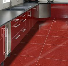 Attrayant Why Does This Gorgeous Red Tile Have To Be In The UK? Kitchen Floor Tiles