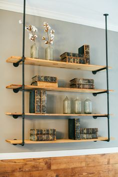 Pairing Pipes With Floating Shelves