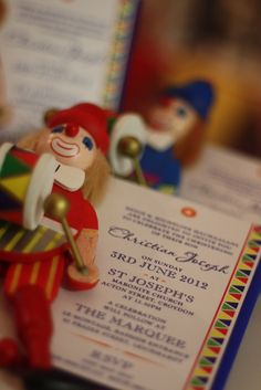 Invites from a Circus Party #circusparty #invites