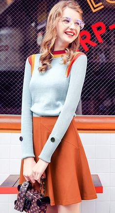 Sets of sweaters women 's autumn and winter loose long - sleeved bottom sweater women' s autumn sweater new wave of 2016