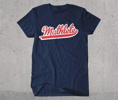 Mathlete Funny Vintage Style Athletic Math T-shirt
