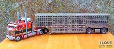 "Thanks and all credits to Plast & Cars...  ""Kenworth COE cattle...Scale 1: 50 Builded by my friend"" — with Loly Leyva."