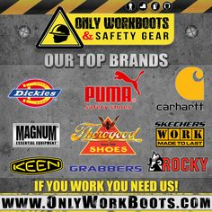 At ONLY WORK BOOTS We Offer The Top Brands for your industry! You can be confident that we carry only the HIGHEST QUALITY work footwear from the Brands you trust! Browse through our selection of occupational footwear at WWW.OnlyWorkBoots.COM NOW! Give us a call (305) 629-9029 or visit our ShowRoom 5121 NW 79th Ave #11, Doral FL 33166 to learn more. Carhartt, Brand You, Showroom, Confident, Trust, Footwear, Boots, Top, Crotch Boots