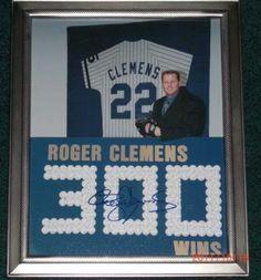 Roger Clemens Autographed 300 Wins 8x10 Photo | crazycollectors.com