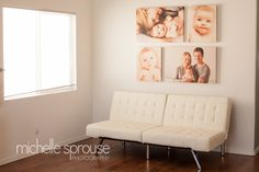 Wall display for portraits 2 16x20s and 2 20x30s Albuquerque Baby Photographer | How to Display Your Portraits — Michelle Sprouse Photography http://www.michellesprouse.com/blog/2013/4/albuquerque-baby-photographer-how-to-display-your-portraits