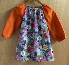 Woodland Friends Corduroy Boho Dress, girls size 5 by SewMeems on Etsy