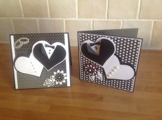 Wedding Anniversary Cards, Wedding Cards, Black And White Theme, Marianne Design, Greeting Cards Handmade, Diy Cards, Quilling, Diy And Crafts, Projects To Try