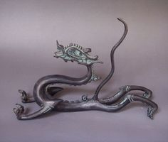 Chinese bronze dragon statue