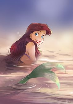 Ariel in the shallows