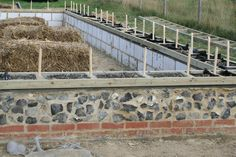 Preparing the foundations for a straw bale barn