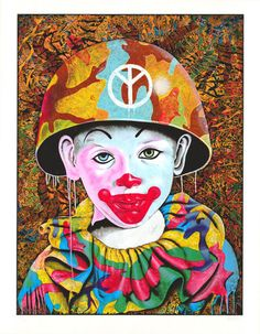 Clown Camo Boy by Ron English – SOON Editions