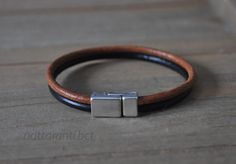 share wont be long ! Genuine leather black brown tan multi stripe double cuff silver plated magnetic end modern minimalist by nattaranti on Etsy Leather Bracelets, Modern Minimalist, Bracelet Making, Real Leather, Black And Brown, Retro Fashion, Silver, Stuff To Buy, Etsy