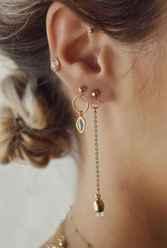 Threader style earrings are my latest crave, I love how the long drop looks with an updo