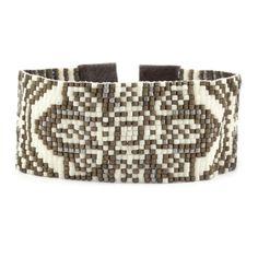 Cream Mix Patterned Cuff Bracelet - Chan Luu