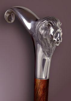 Handmade Walking Cane / Handmade Walking Stick: WOLF by Boris Palatnik Page D142SC