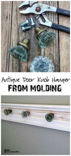 Antique Door Knob Hanger (One Room Challenge: Week 5)